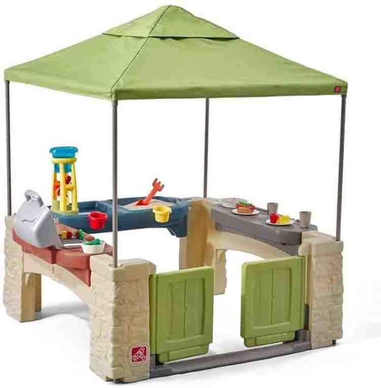 an outdoor canopy playhouse