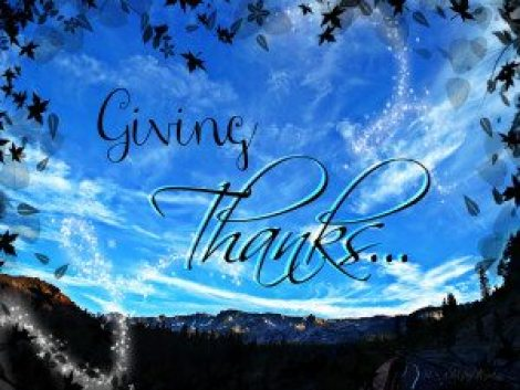 giving thanks words