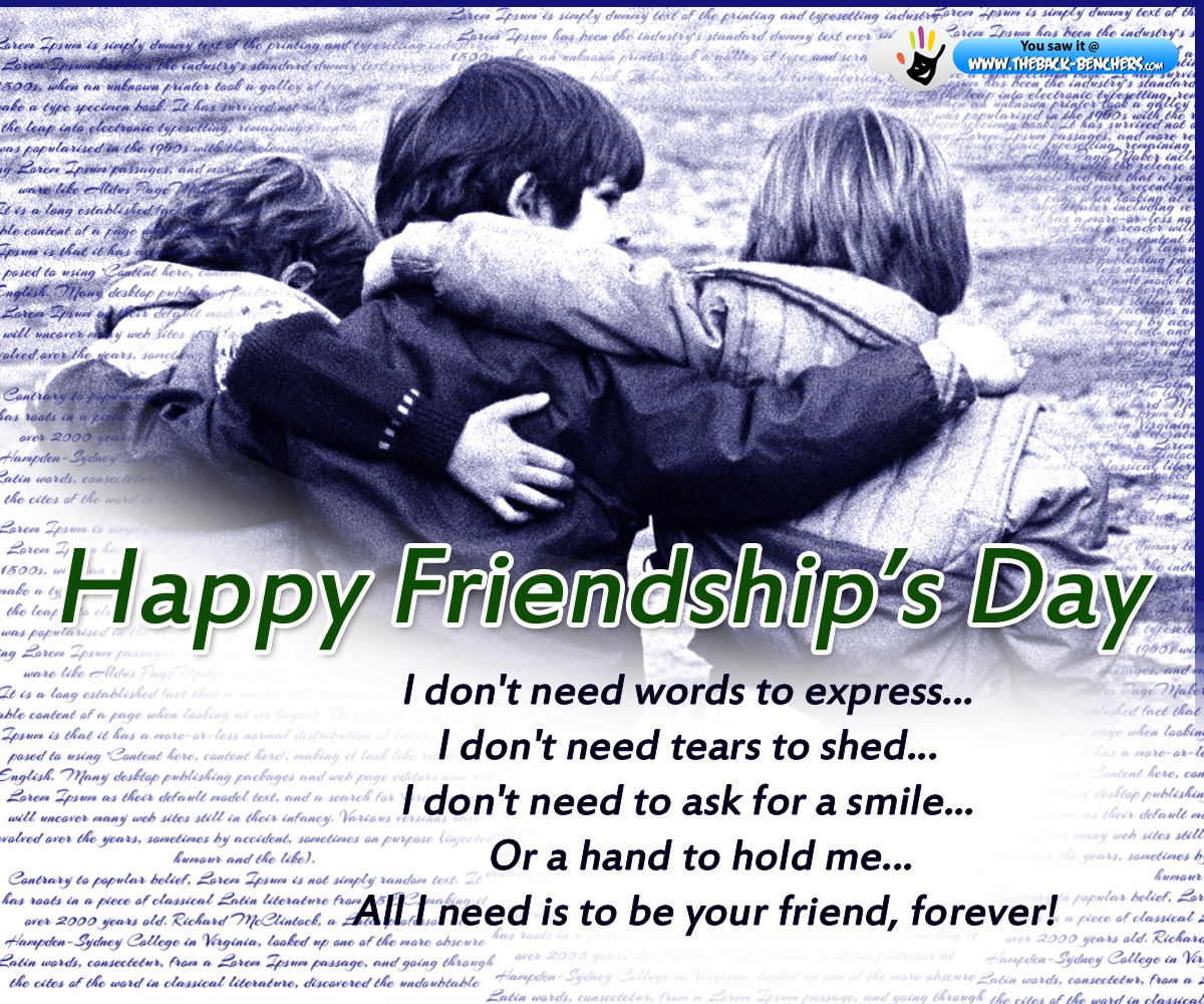 Best Friendship Wallpapers With Quotes Happy Friendship Day Wallpapers Theback Benchers