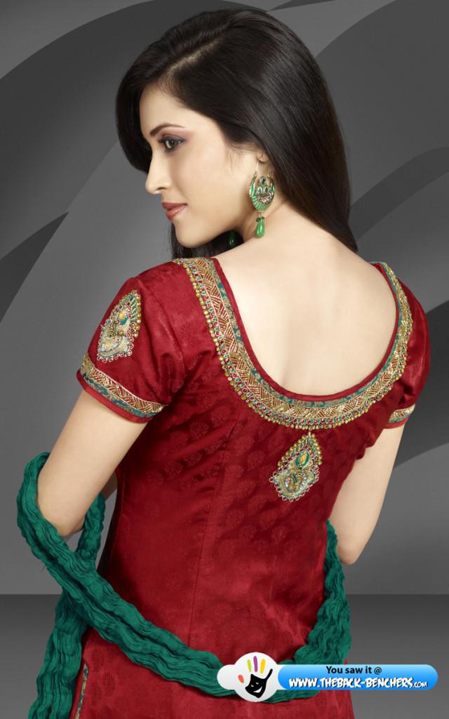 Book ladies design suit neck Cotton Churidar