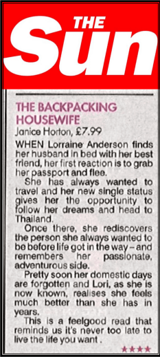 Janice Horton The Backpacking Housewife in The Sun News