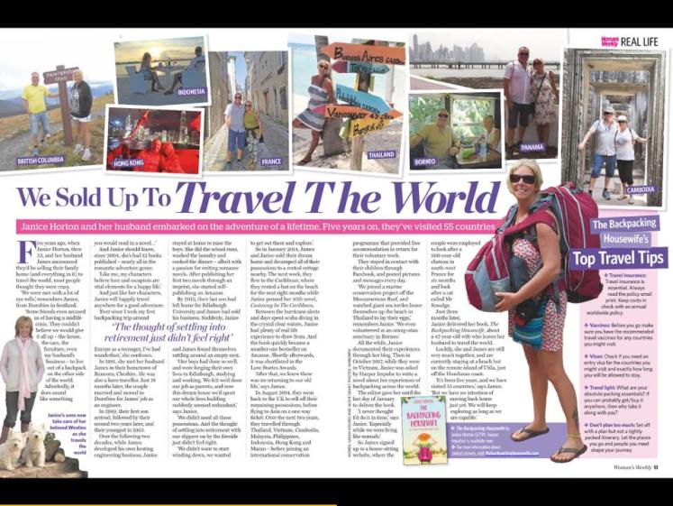 Womans Weekly August 2018 - The Backpacking Housewife