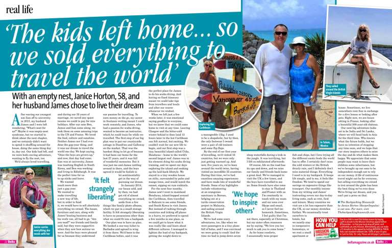 Bella Magazine with Janice Horton The Backpacking Housewife