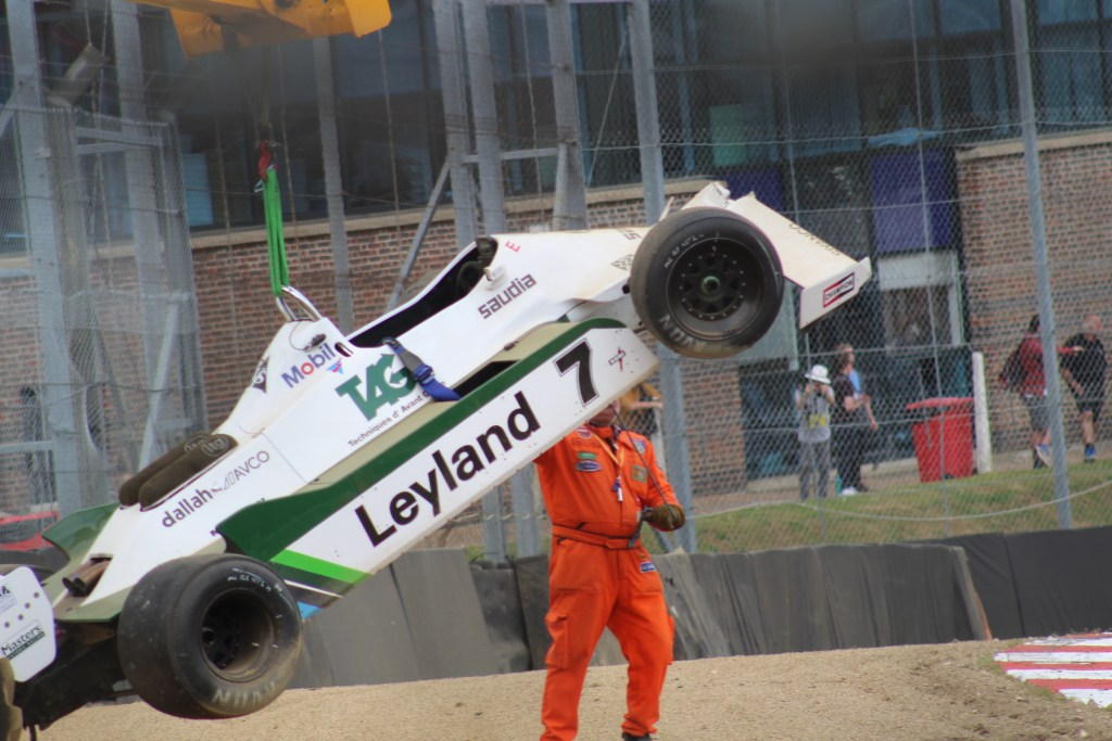 Williams FW07D Crash