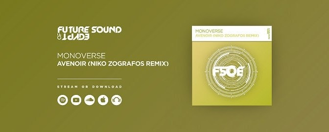 West Coast's most promising trance talent Niko Zografos with a stellar remix on FSOE!