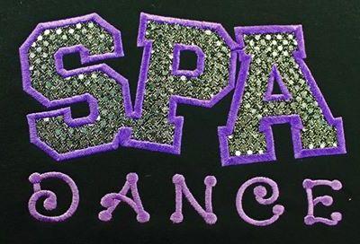 SPA Dance glitter hoodie stitching
