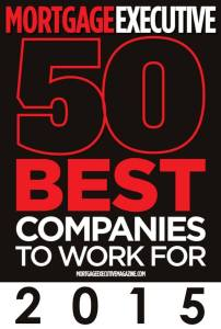 2015 Mortgage Executive 50 BEST Companies to work for