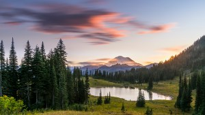 A beautiful mountain Rainier shot taken in the state of Washington