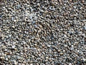 pea gravel yard option for pets