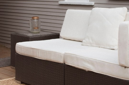 plastic wicker furniture couch outdoors