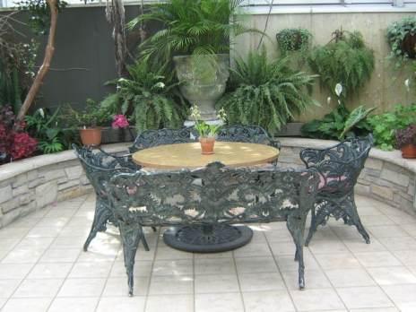 wrought iron set outdoors furniture