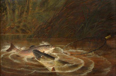 Fishing Painting by Thomas G Targett