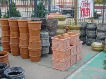 outdoor pottery backyard