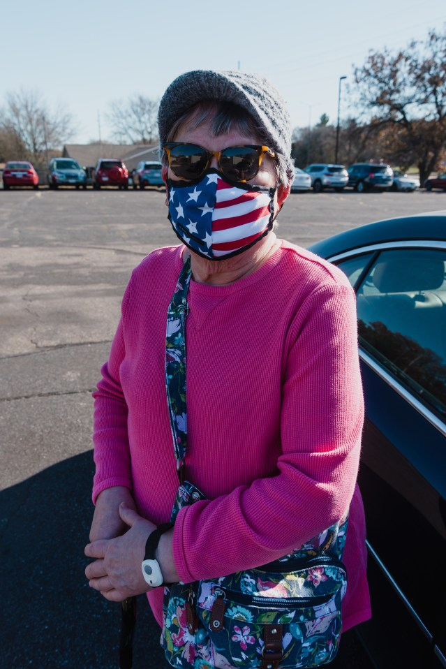 "Mary Anne, 77, voted at Salem Baptist Church in Eau Claire.<br>Why did you choose to vote in person?<br>""Well I'm old school, and not very trusting."" <br>Photo and interview: Jake Olson"