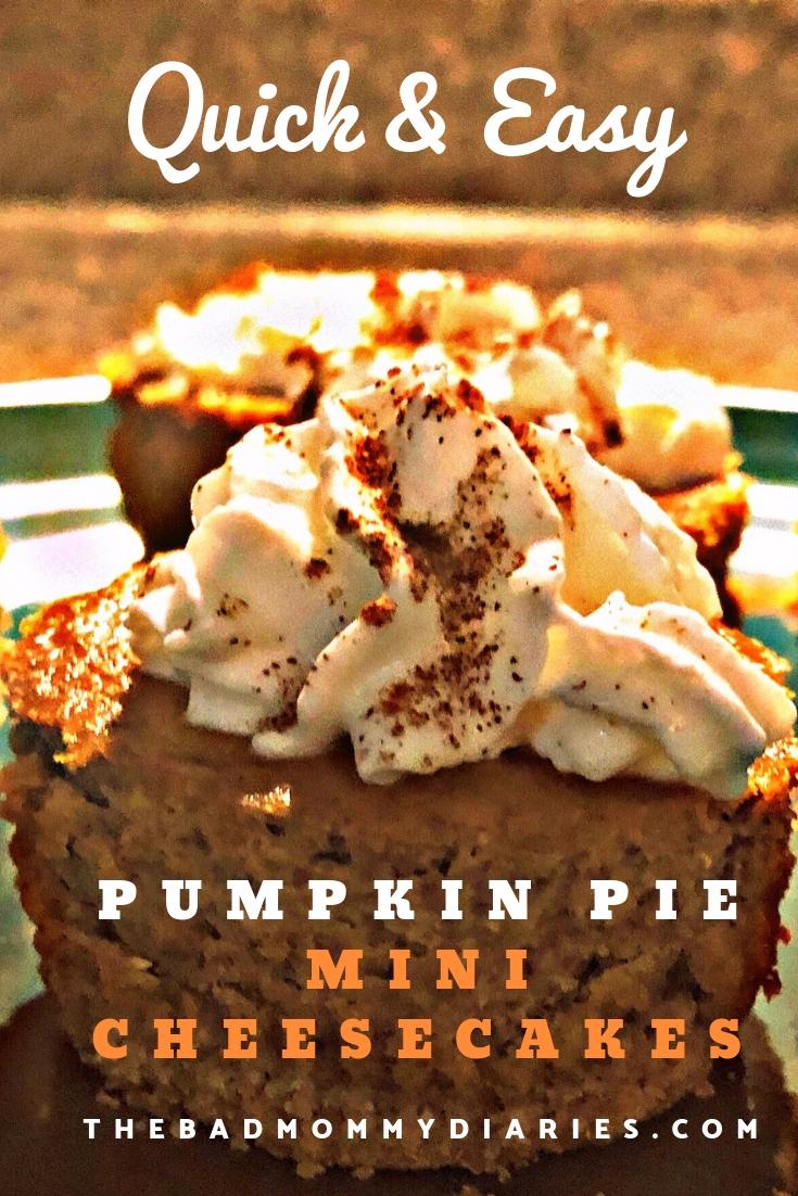 Pumpkin pie mini cheesecakes