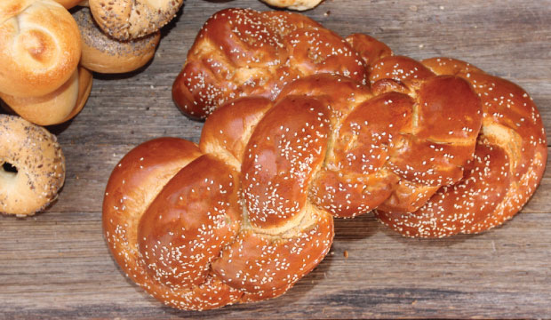 Image of delicious, fluffy Challah bread available from The Bagel Co, Rose Bay