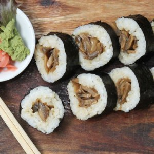Mushroom Teriyaki Sushi available online and instore at The Bagel Co Rose Bay