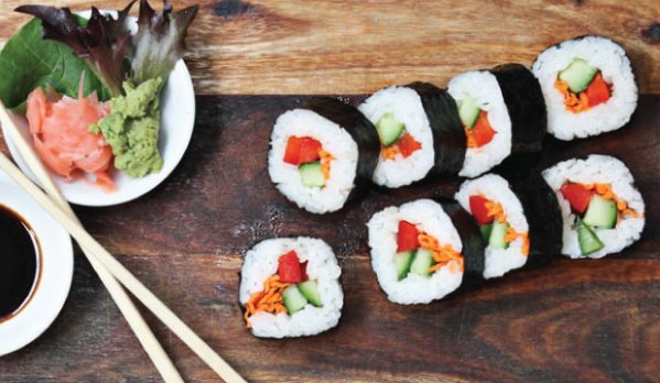 Image of the Vege Sushi that can be purchasesd online or in-store at The Bagel Co. in Rose Bay