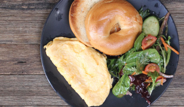This is an image of The Bagel Co breakfast omelette, available form Rose Bay onine or in-store.
