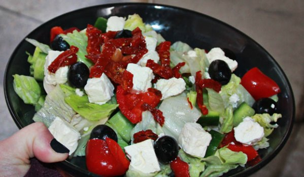 Greek Salad available online and instore at The Bagel Co Rose Bay