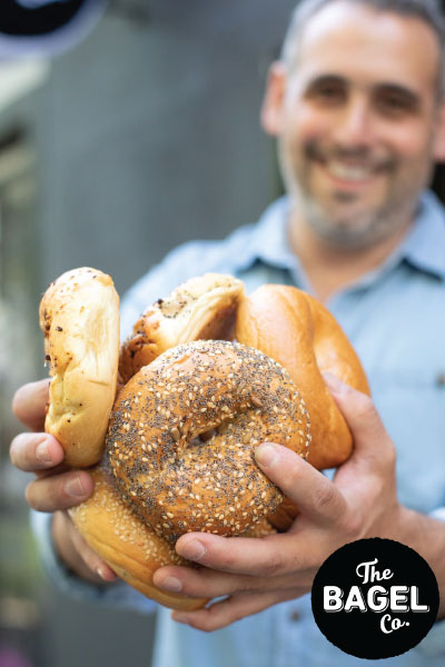 Bagels available online and instore at The Bagel Co Rose Bay and Surry Hills