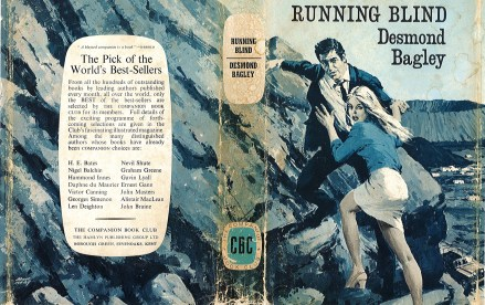 Desmond Bagley Running Blind - UK Companion Book Club Ed. 1971