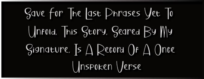A Once Unspoken Verse - Journal