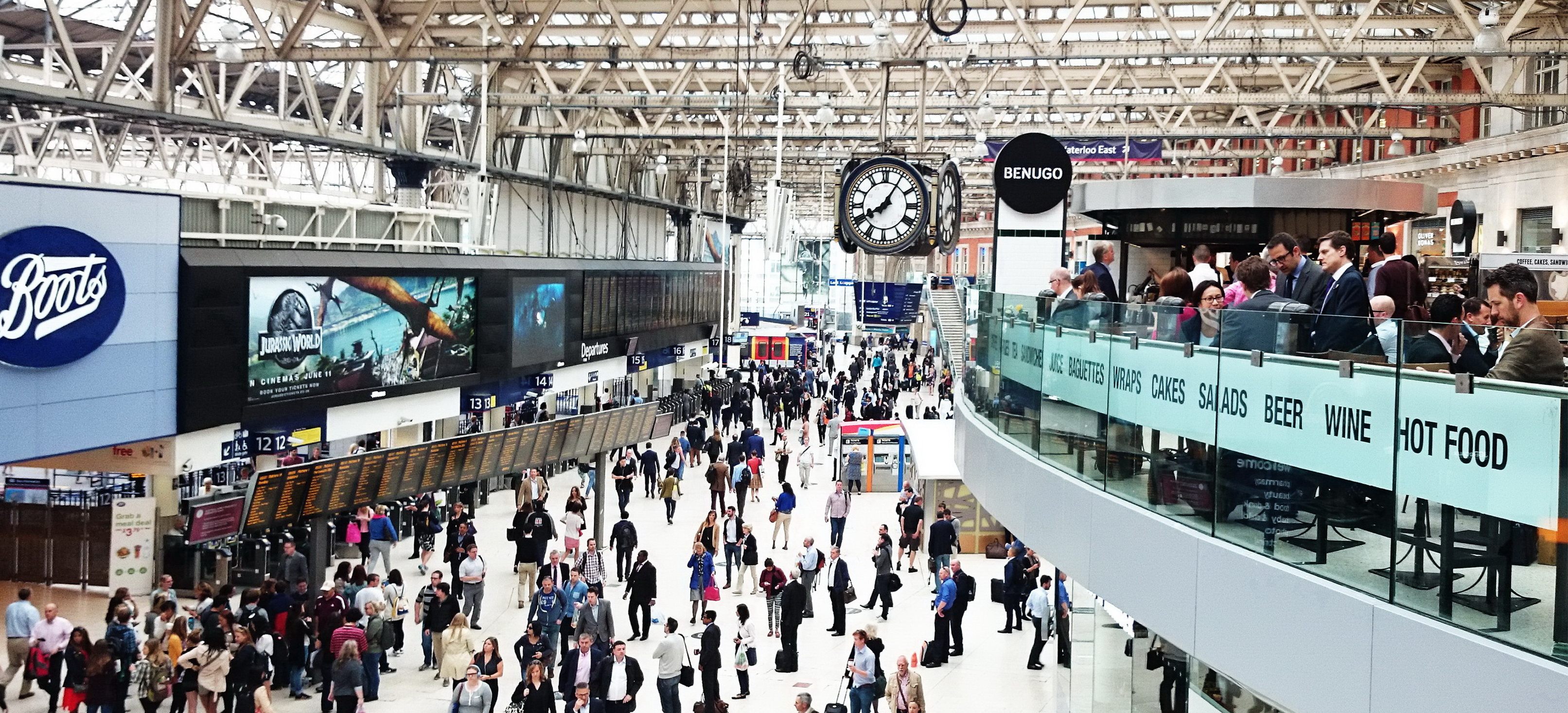 London. Waterloo station. 8 am. Friday