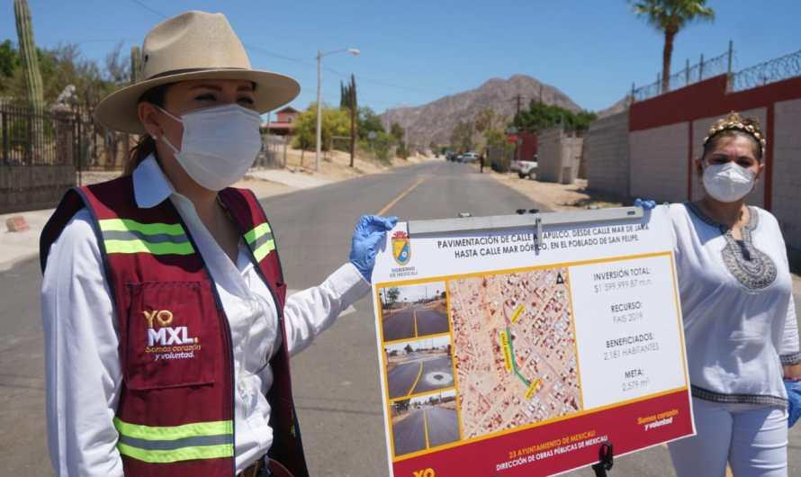 Invierte el Ayuntamiento mas de 5.5 millones de pesos para pavimentación en San Felipe
