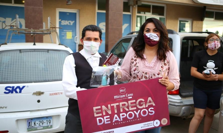 Beneficia diputada Miriam Cano a 100 familias ensenadenses con entrega de paquetes de ayuda para crisis COVID19