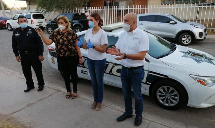 Dona diputado Victor Navarro patrulla en Hacienda Dorada, él pagará los combustibles y los lubricantes