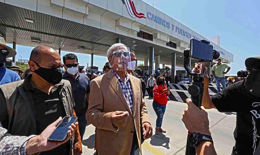 """Libera Bonilla libera caseta de Playas de Tijuana, """"residentes de Playas y automovilistas que circulan por la zona ya no pagarán"""""""
