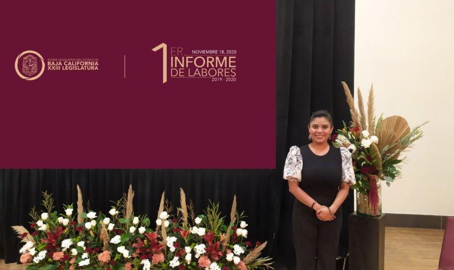 """""""Servilismo sí, pero a Baja California"""": dijo la Diputada Montserrat Caballero al entregar su 1 Informe"""
