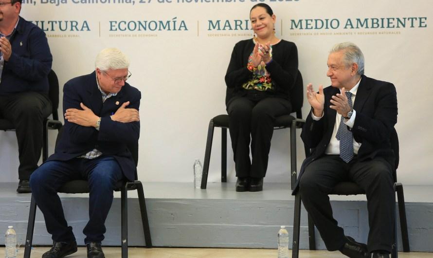 Reconoce López Obrador la labor de Jaime Bonilla como precursor de MORENA