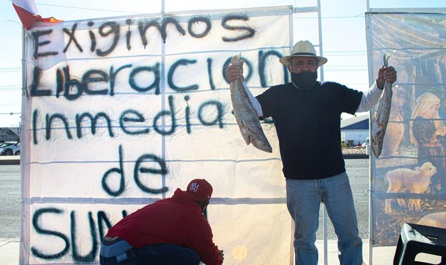 Confirma Gobierno de BC detención de Sunshine Rodríguez, simpatizantes protestan frente a FGR en Mexicali