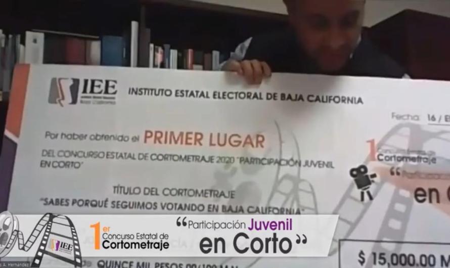 Instituto Estatal Electoral informa sobre los ganadores de concurso de cortometrajes «Particpación Juvenil en corto»