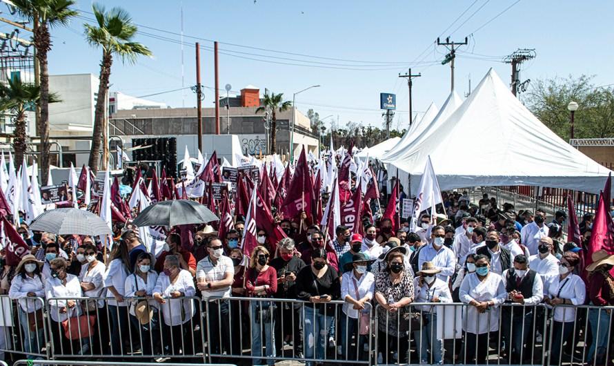 Distanciamiento social en el olvido en registro de Marina del Pilar, evento del que MORENA se apoderó indebidamente