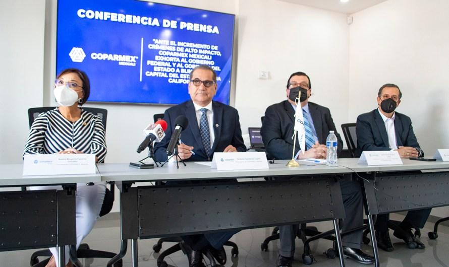 COPARMEX: «Crimen de alto impacto crece 300% en Valle de Mexicali», piden a GN blindar la capital estatal