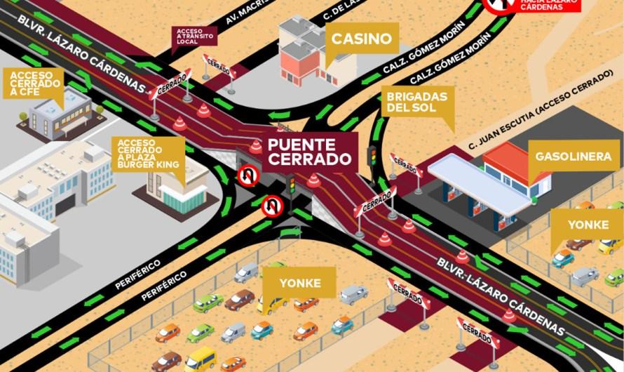 Ayuntamiento de Mexicali cierra el «puente pando» para revisar su estructura