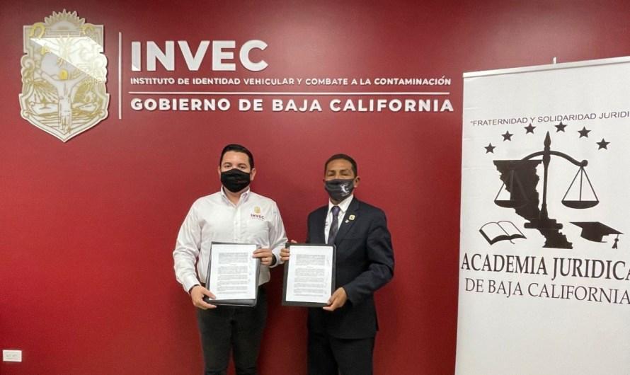 Firman convenio de colaboración Instituto de Identidad Vehicular y la Academia Jurídica de Baja California