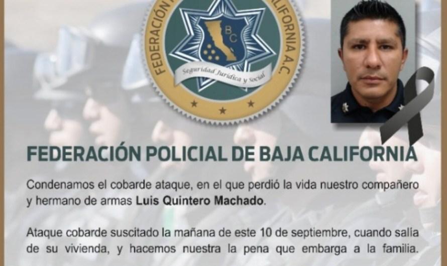 Asesinan a agente municipal en Mexicali frente a su casa, los atacantes huyen, intenso operativo de seguridad