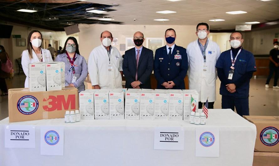 Entrega Cónsul de EU donativo de 60 mil dólares para a hospitales de Baja California