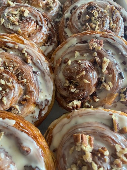 A selection of Pecan Maple Cinnamon Swirls