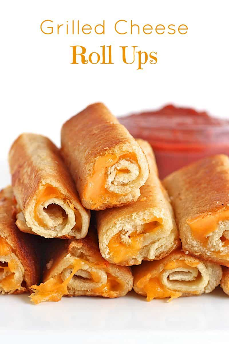 grilled cheese roll ups the bakermama