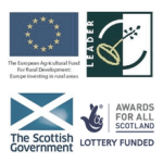 We are grateful for financial assistance and support from the Scottish Government, Leader and Awards for All