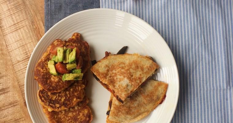 Corn fritters en quesadillas – Verras met TexMex