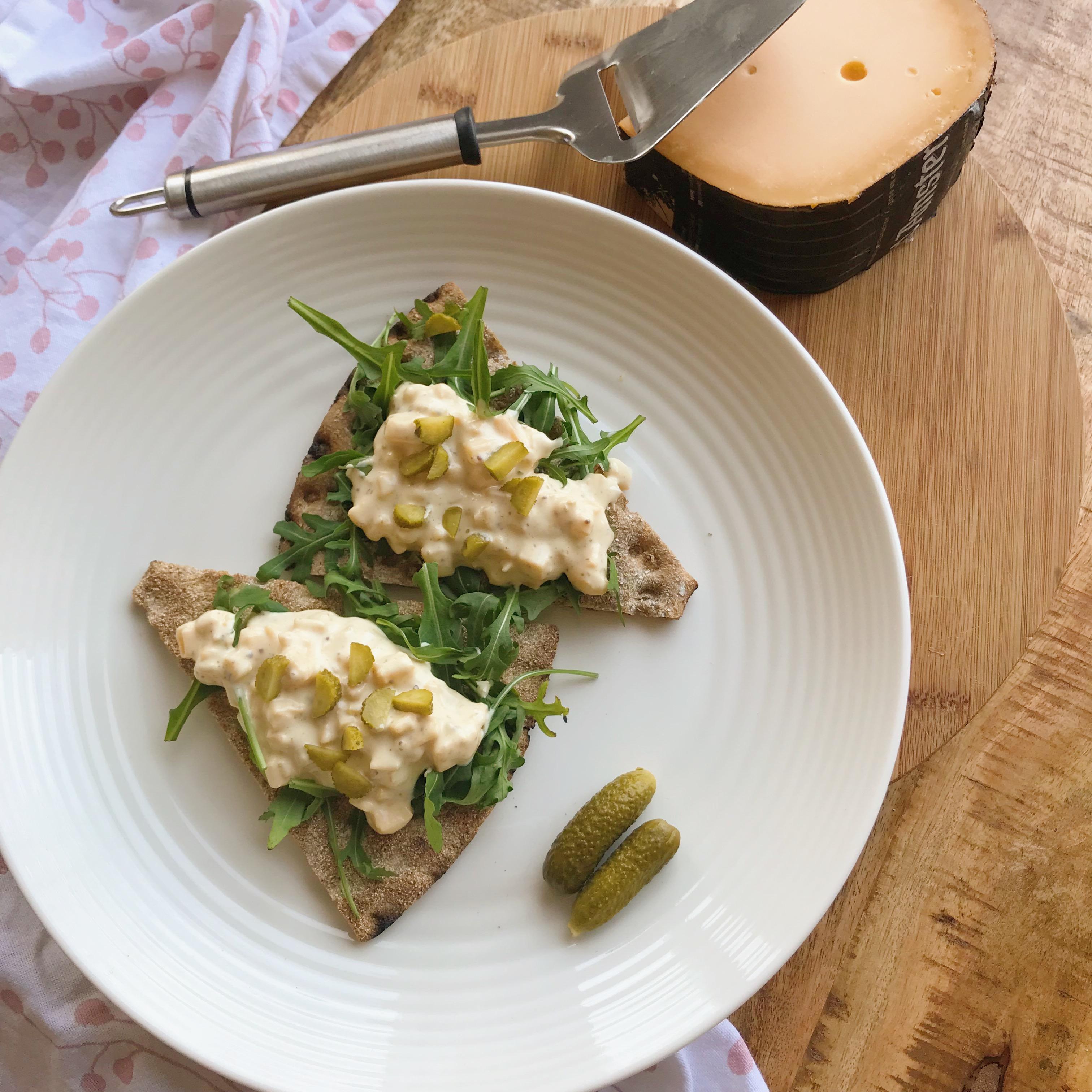 Zelfgemaakt: oude kaas salade