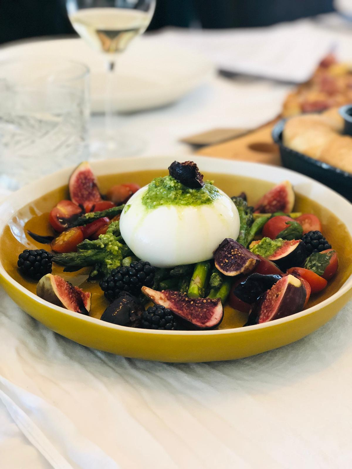 Burrata herfstsalade + Italiaanse Sauvignon Blanc