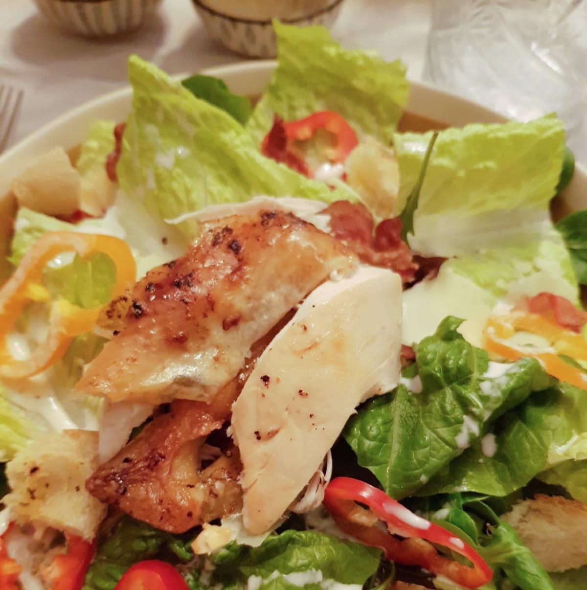 Ceasar Salad met kip uit de oven