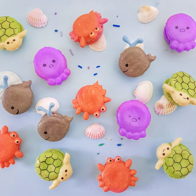 Sea Creatures Macarons by The Baking Experiment